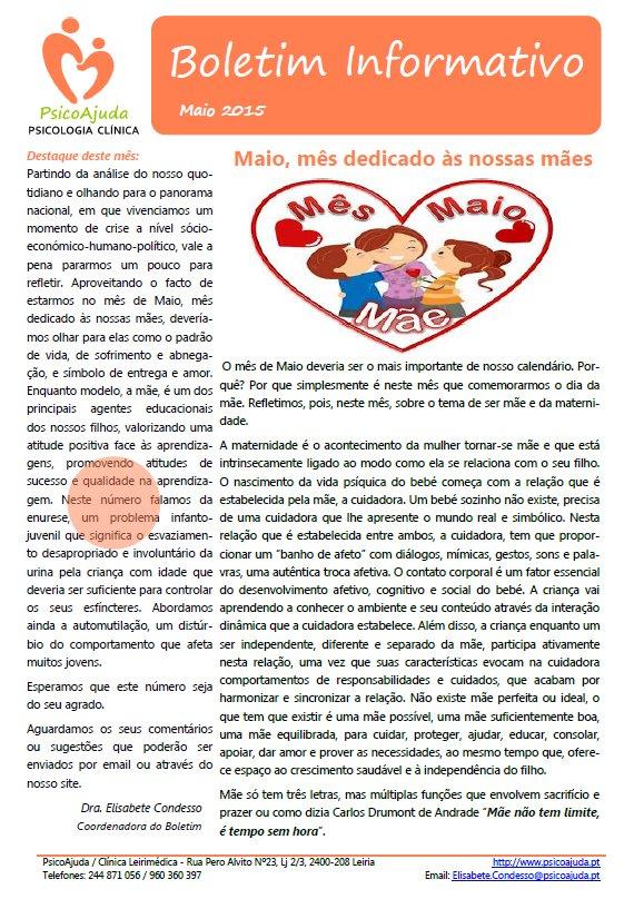 Boletim PsicoAjuda Capa - Mai.2015