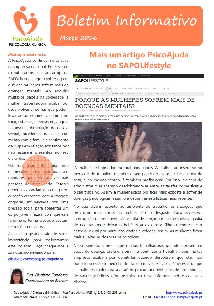 Boletim PsicoAjuda Capa - Mar.2016