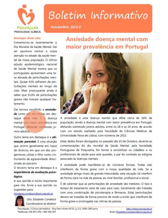 Boletim PsicoAjuda Capa - Nov.2015