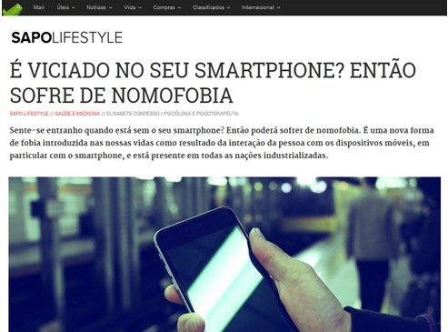 Nomofobia, viciado no smartphone