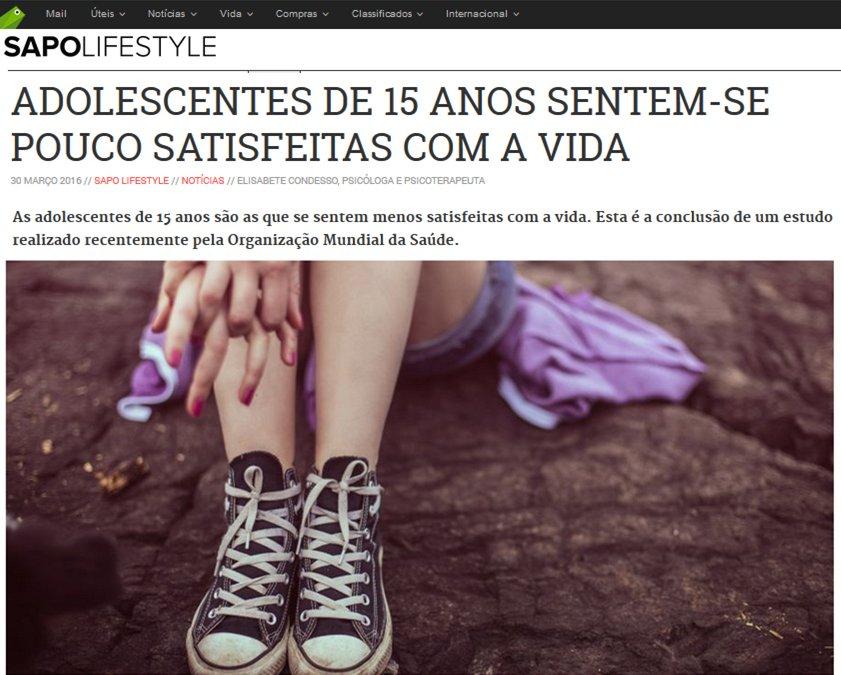 Adolescentes pouco satisfeitas com a vida
