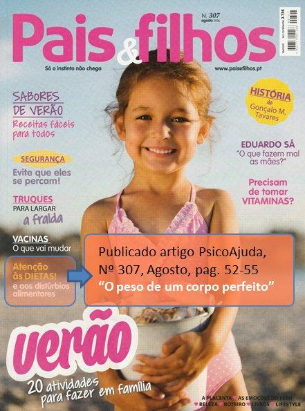 Artigo Pais&Filhos - Peso de um corpo perfeito