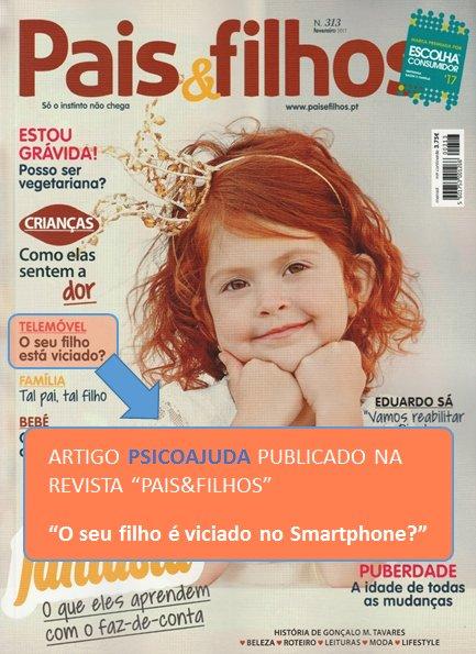 Artigo Pais&Filhos - O seu filho é viciado no Smartphone?
