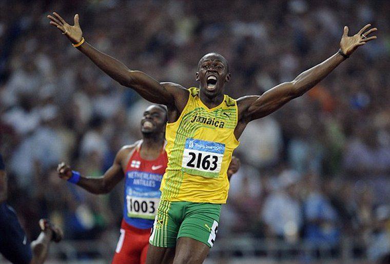 Felicidade genuína alcançada pelo atleta