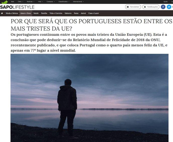 Porque será que os portugueses estão entre os mais tristes da EU?