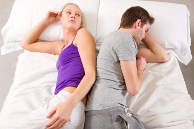 Casal com dificuldades sexuais